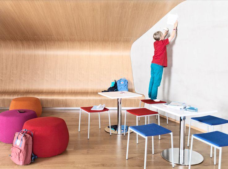 Spot tables and Picco stools at Inspiring School.