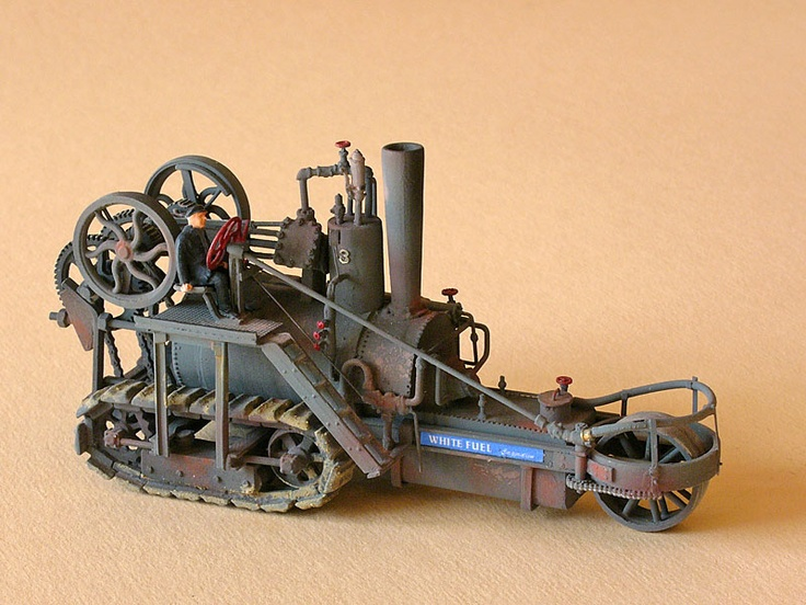 Holt steam crawler tractor | 1904-10 | 1:87 model