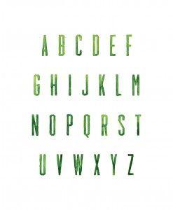 Green Painted Alphabet