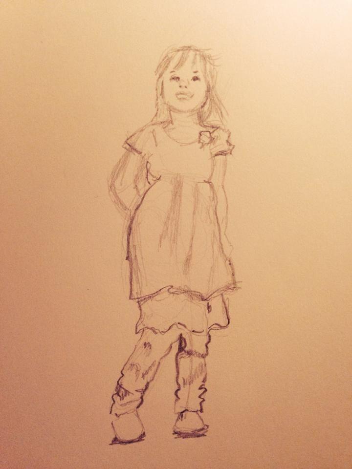 Five year old fashion diva.