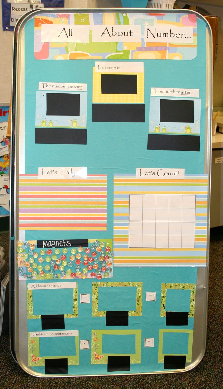 Here's another idea for using an oil drip pan to create a math center on number sense.