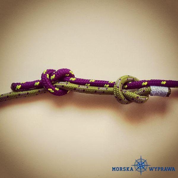 węzły żeglarskie - związ wantowy - służy do łączenia dwóch lin, mogą być różnej grubości