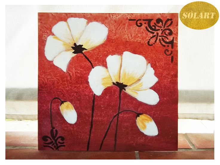 Flores con colores tierras