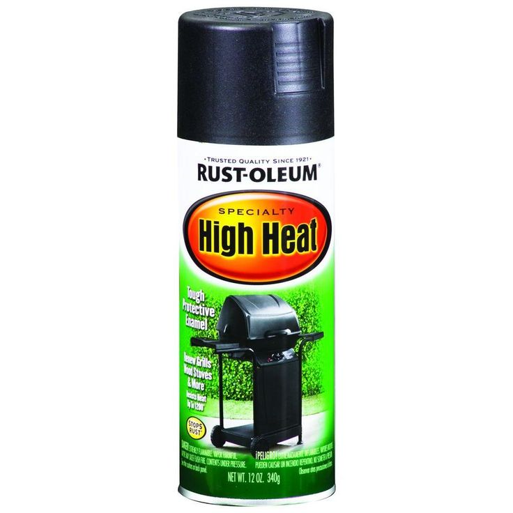 Rust-Oleum Specialty 12 oz. Bar-B-Que Black Satin High Heat Spray Paint-7778830 at The Home Depot