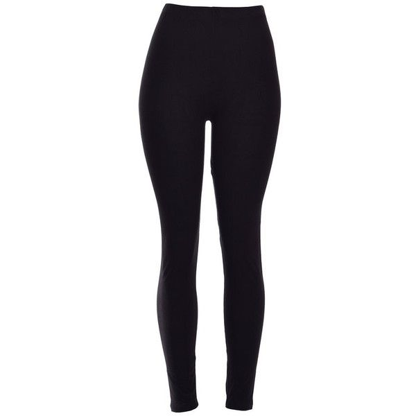 Black Solid Thick & Tight Leggings ($44) ❤ liked on Polyvore featuring pants, leggings, bottoms, jeans, legging pants, thick pants and thick leggings