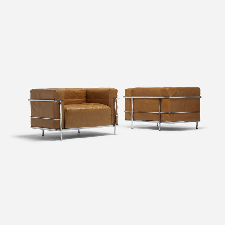 Pierre Jeanneret, Charlotte Perriand and Le Corbusier / Grand Comfort lounge chairs