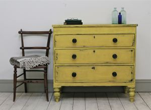 Quirky Victorian Painted Chest of Drawers. - For Sale | Distressed But Not…