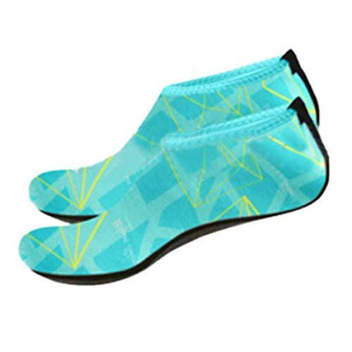 NewKelly Beach Camouflage Professional Water Shoes for Men& Women Rainbow Quick-Dry Aqua Socks for Swimming Scuba Diving Surfing (S, Blue)