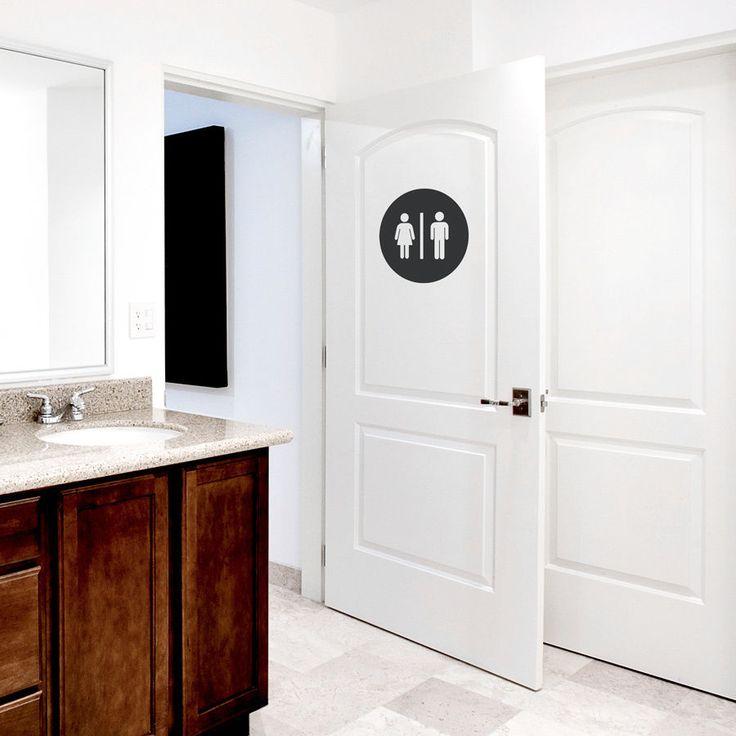 RESTROOM CIRCLE Toilet Bathroom Washroom Art Vinyl Decal Wall Quote Sticker  //ebay Shop: