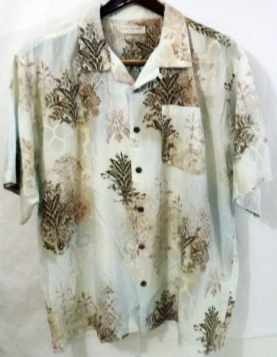 7aca91070a9ac2 LN Men s Island Republic Vintage 2XL Cotton Bone Thistle Paisley SS Camp  Shirt