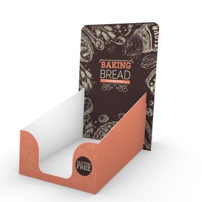 Réalisation de présentoir prospectus en carton pour votre publicité. PLV carton haute de gamme  à prix incroyables