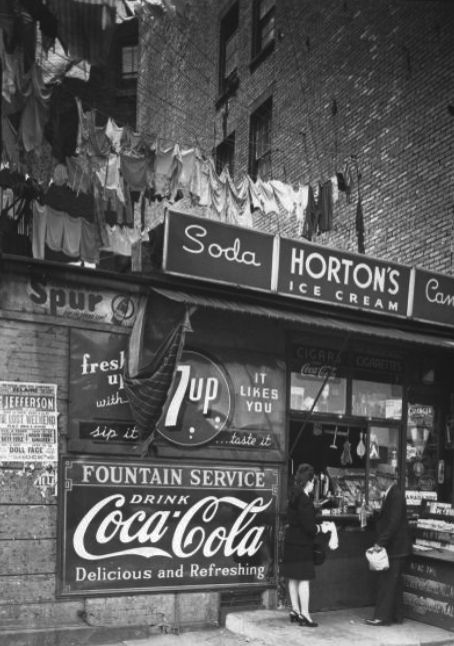 Horton's Ice Cream and Soda New York 1946  Photo: Todd Webb