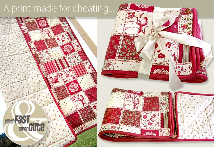 Super+Fast+&+Super+Cute:+Cheater+Quilt+with+Piping