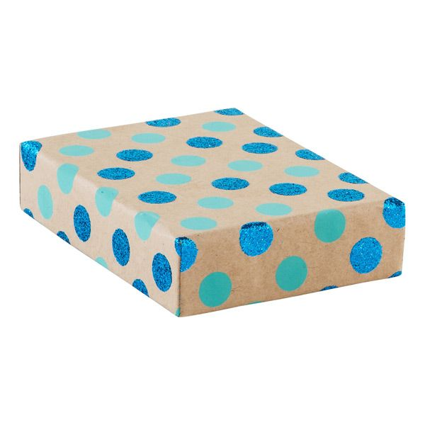 Enjoy free shipping on all purchases over $75 and free in-store pickup on the Vivid Wrap Blue Glitter Dot Recycled Kraft Box at The Container Store. Our Recycled Paper Box does good for the world while looking good too! It's made from recycled cotton paper and comes in a beautiful pattern for every style.