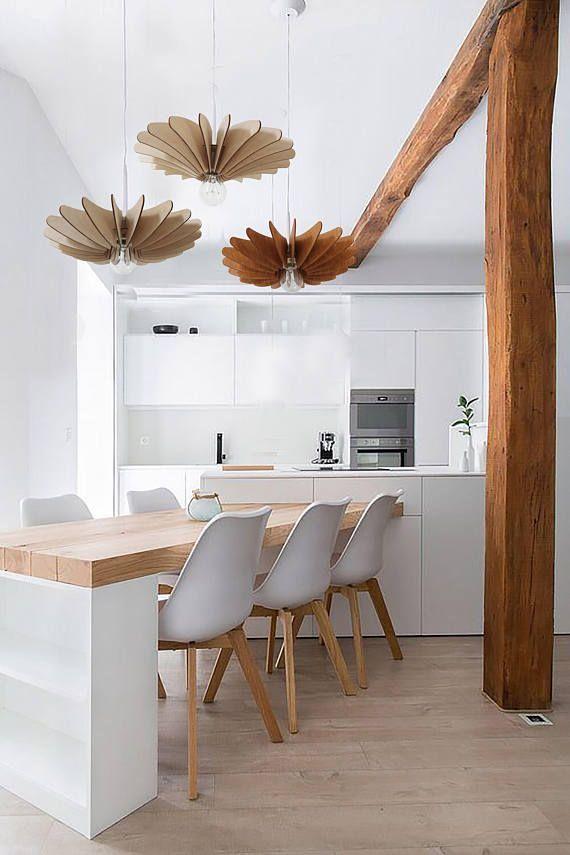 Modern Wood Pendant Light Modern Scandinavian Style Light Fixture