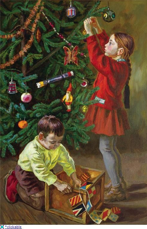 Новый год семья открытки