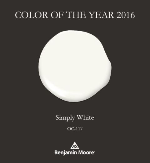 2016 Benjamin Moore Color of the Year is Simply White.