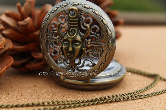 Dean Winchesters Supernatural Dean amulet  Protection Inspired pocket watch Necklace