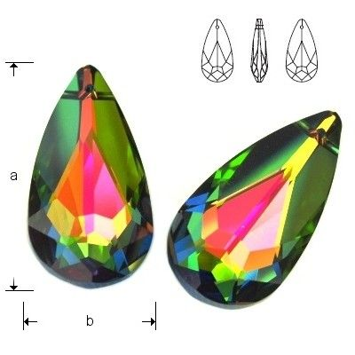 6100 Teardrop 24mm Vitrail Medium  Dimensions: 24,0x12,0 mm Colour: Vitrail Medium 1 package = 1 piece