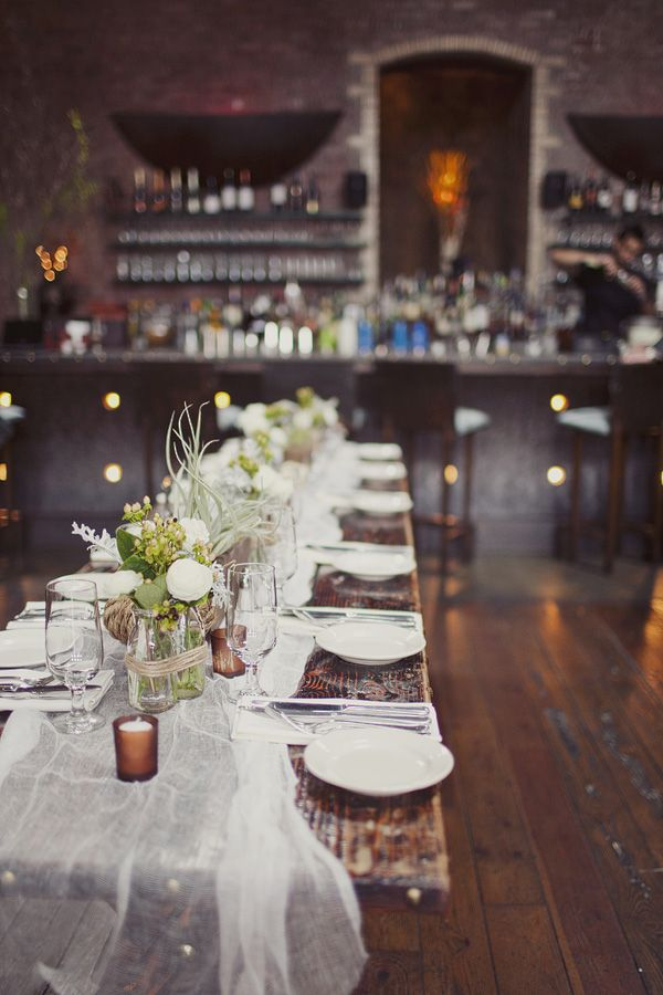 Brooklyn Rooftop Wedding. Rustic Table DecorationsRustic ...
