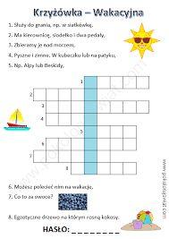 krzyżówki dla dzieci do rozwiązywania - Szukaj w Google