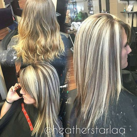 The 25 best heavy blonde highlights ideas on pinterest platinum heavy blonde highlight with a dark brown lowlight and unde flickr urmus Choice Image