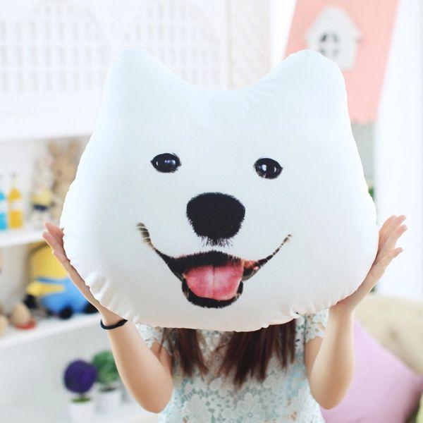 Lovely Samoyed Cushion,  Plush 3D Printed Samoyed Husky Doge Dog Throw Pillow Alaska Dog Cushion