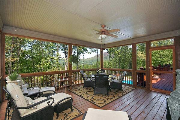 Front Porch Design - back porch design, open & screened porch