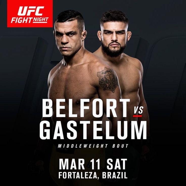 Kelvin Gastelum Vs. Vitor Belfort Confirmed At UFC Fight Night 107 In Brasil - AddictFight