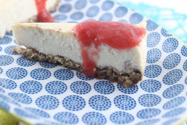 Rosewater Greek Yogurt Cheesecake