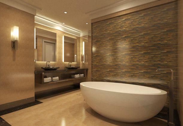 Badezimmer Braun Beige
