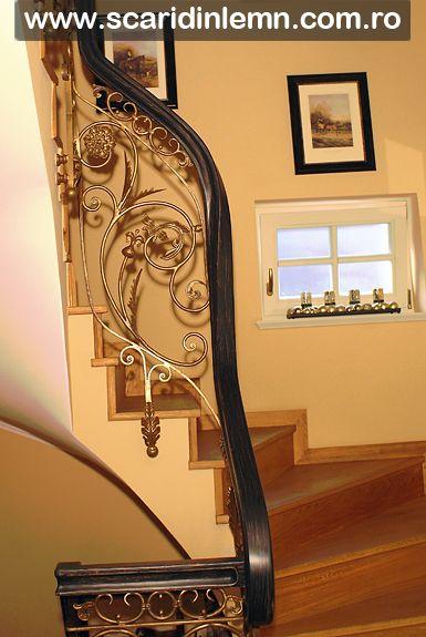 scari interioare lemn masiv, mana curenta de lemn curbat, placare trepte de lemn, pret