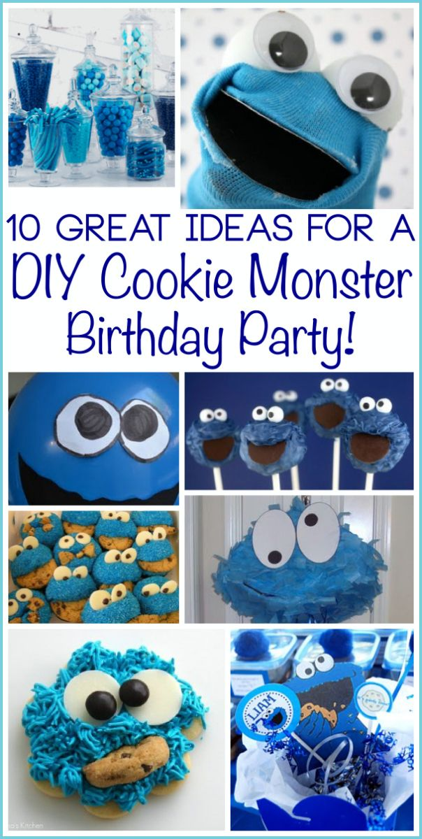 Cookie Monster Party Ideas for a DIY Birthday Party!