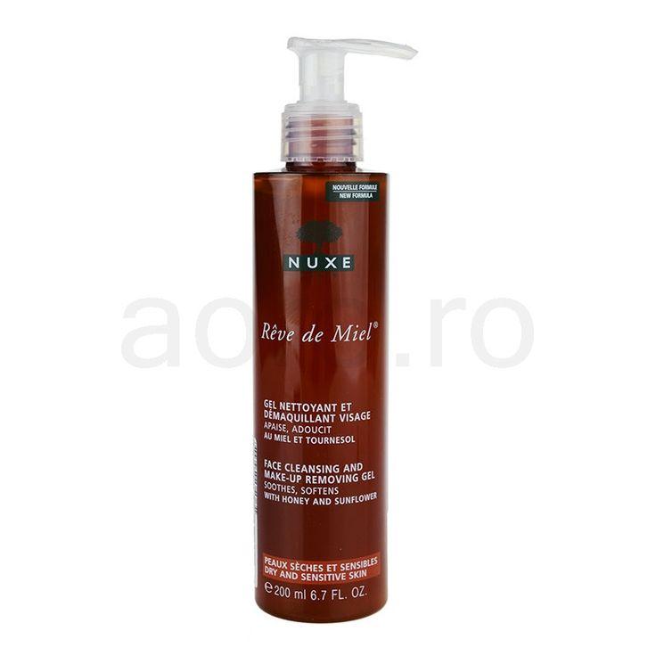 Nuxe Reve de Miel gel de curatare pentru ten uscat si sensibil (Face Cleansing and Make-up Removing Gel) 200 ml