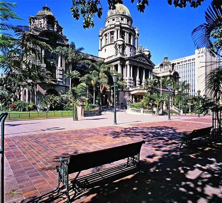 The Town Hall, Durban, was designed by Philip Dudgeon in the neo-classical style. The foundation stone was laid in February 1883. The Francis Farewell Gardens in front of the Town Hall were laid out on the site of the first White settlement west of Port Type of site: City Hall Current use: City Hall. The Frances Farewell gardens are the area containing the war memorial between the City Hall and Gard. The Durban City Hall, together with the Francis Farewell Gardens, forms an important…