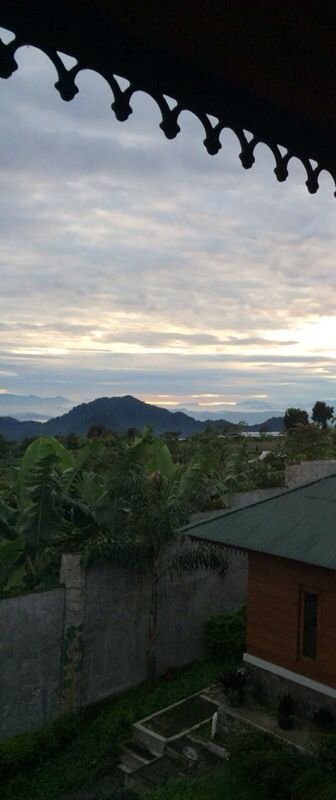 Morning view from the villa at Puncak, Indonesia
