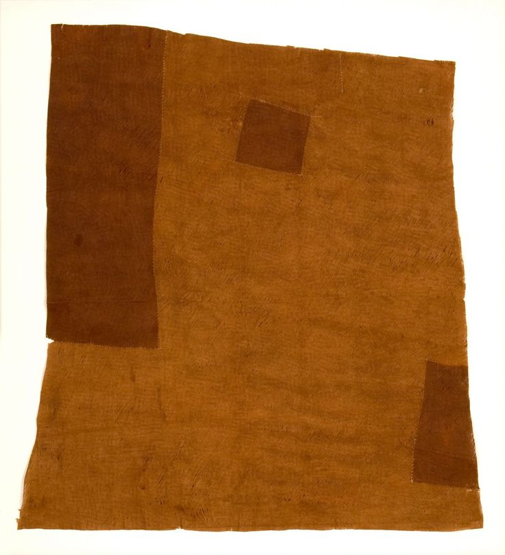 """Bagenda """"Patchwork"""" Bark Skirt  Bagenda People  Lake Victoria, Uganda   20th Century    Pounded and sewn ficus bark    Size: 42 X 39 inches (105 x 97.5cm)    Published: John Gillow, African Textiles (2005) page 157"""