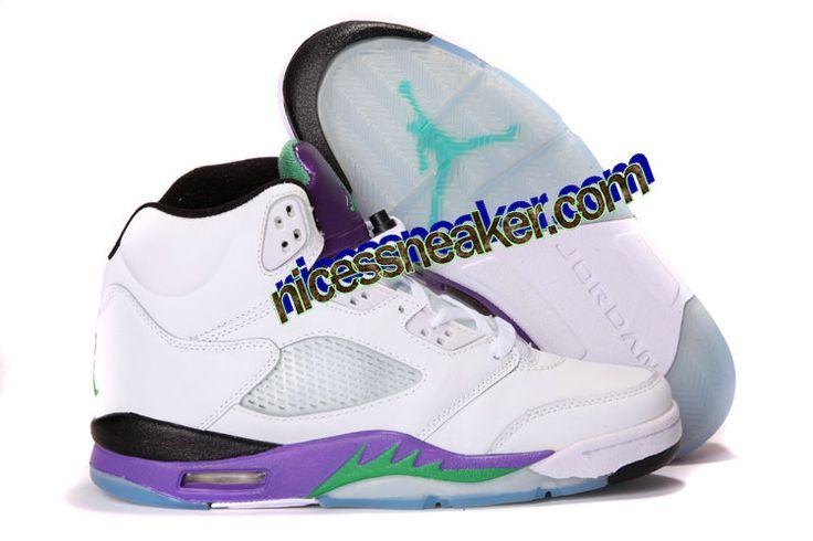 brand new f608f d654f Save Up To 63% Air Jordan 5 Retro White New Emerald Grape Ice Blue Men