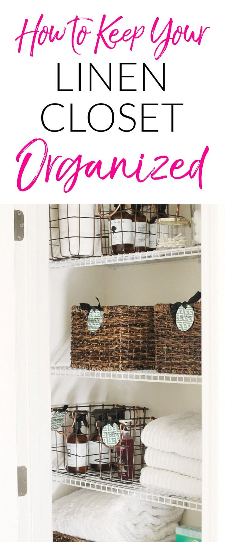Keep Your Linen Closet Organized AND Smelling Great with These Quick, Functional, and Cheap Ideas for Linen Closet Organization.