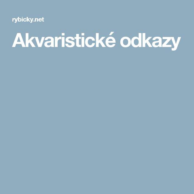 Akvaristické odkazy