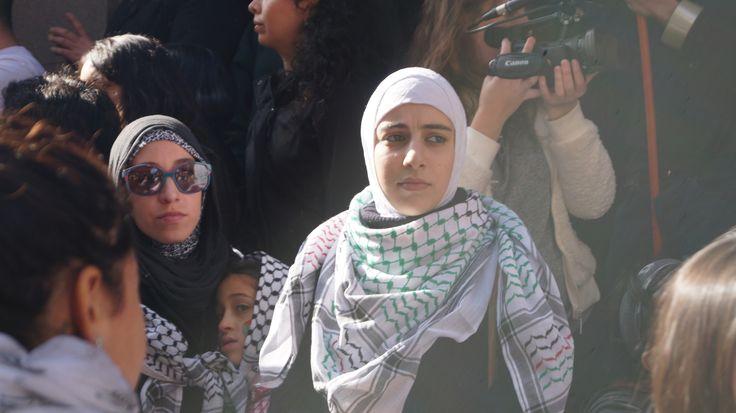 Palestinos se manifestaron en Santiago.