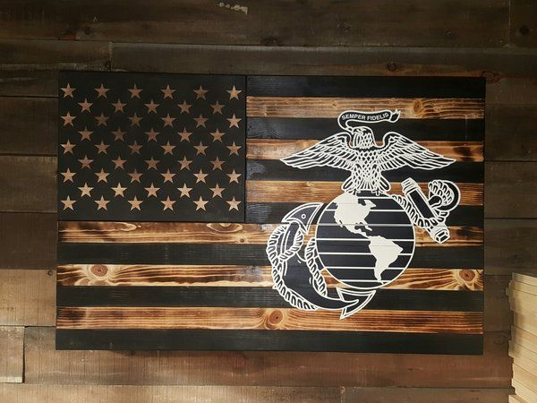 Large USMC Eagle Globe and Anchor Concealed Weapon Flag Father's day Birthday Anniversary Retirement  Gift ideas Dad