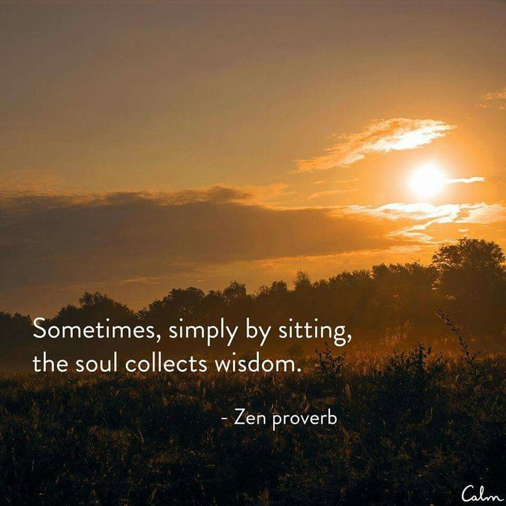 """•♥• """"Sometimes, simply by sitting, the Soul collects wisdom."""" ~Zen proverb"""