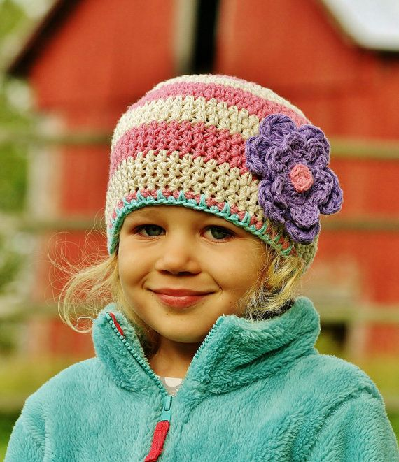Toddler Girls Winter Hat The Avery Hat in Rosy Pink by rubywebbs, $33.00