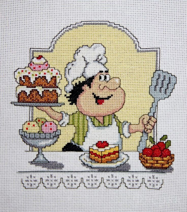 COUNTED CROSS STITCH KIT SWEETY PRODUCT DETAILS: Article: CT-008 The size of the finished work: 21x21 cm  Technique: Counted cross  Aida Canvas 14  Color white canvas  cotton Yarn  Set includes floss, canvas, diagram, instructions    The frame in kit is not included. Manufacturer:  Made with love (Russia)