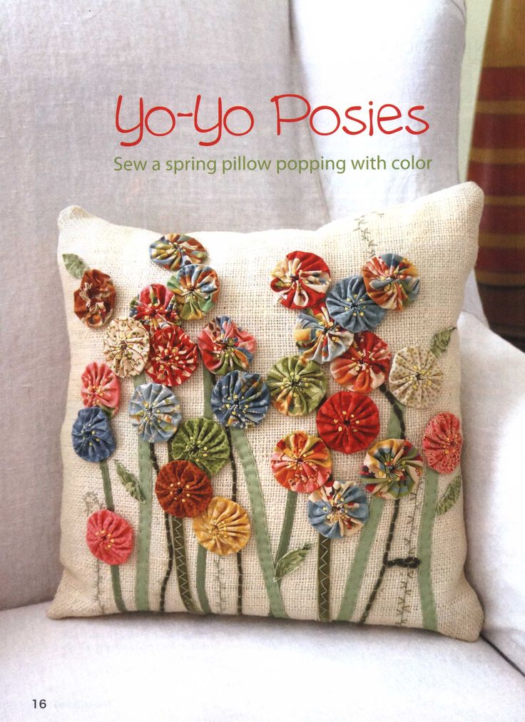 yo yo posie pillow  (click on arrow at top right to get the instructions)