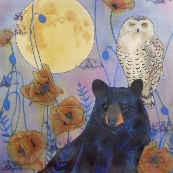 The Conspirators Whispered in the Moonlight  Bear with Snow