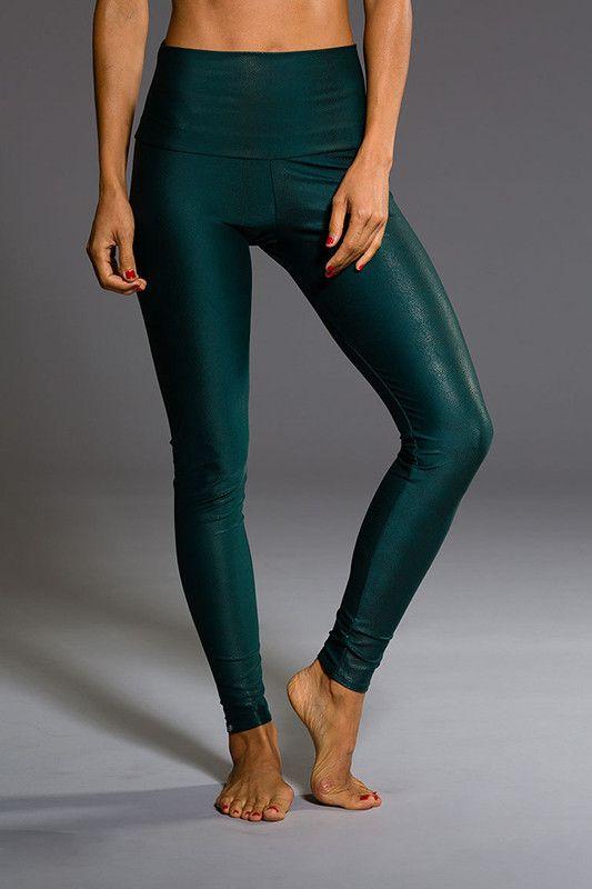 ONZIE High Rise Legging - Green Venom