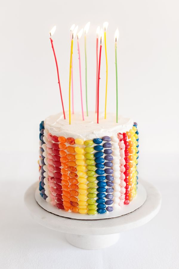 rainbow jelly bean cake!