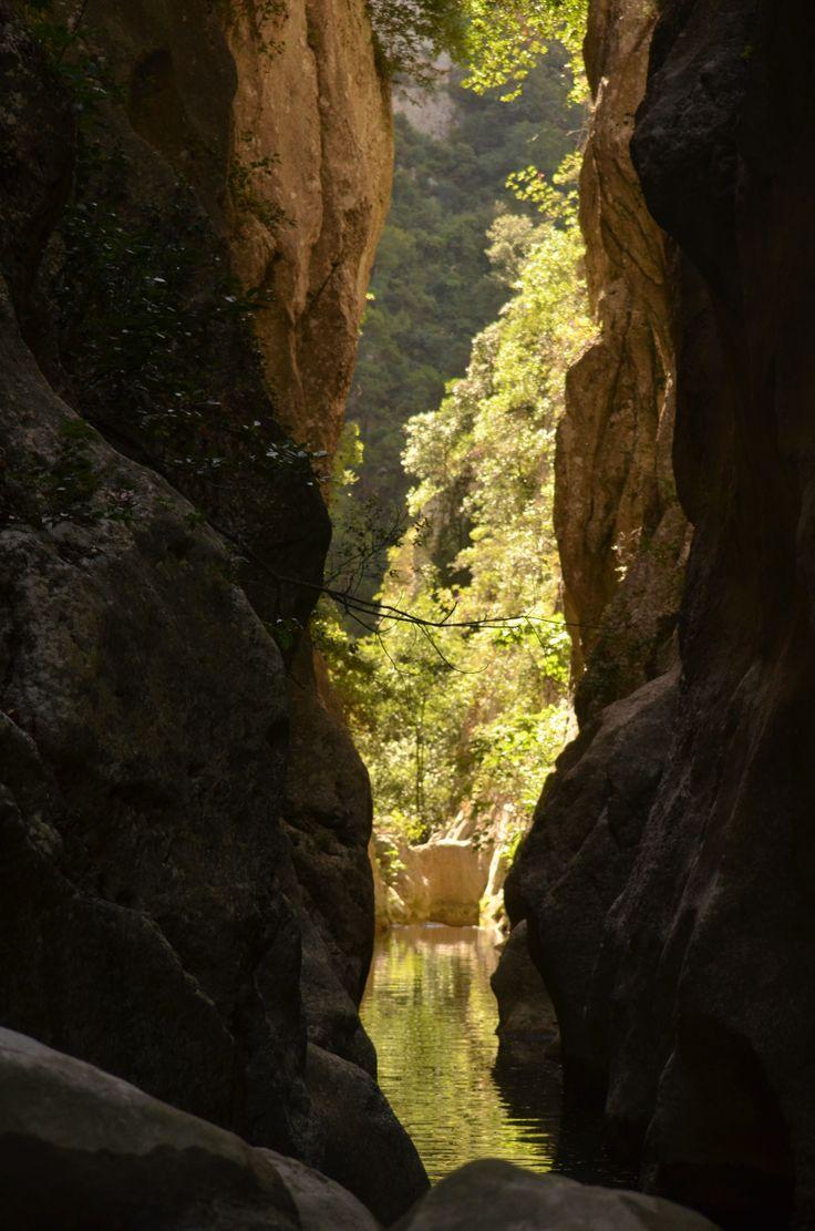 Les gorges de Galamus à Saint Paul de Fenouillet (66) telles qu'on peux les voir en canyoning. Photo de Marie Chaloyard